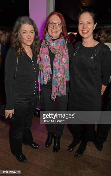 Anwen ReesMyers Maggie Weston and Holly Gilliam attend a drinks reception celebrating Amanda Nevill as she departs her role as CEO of the British...