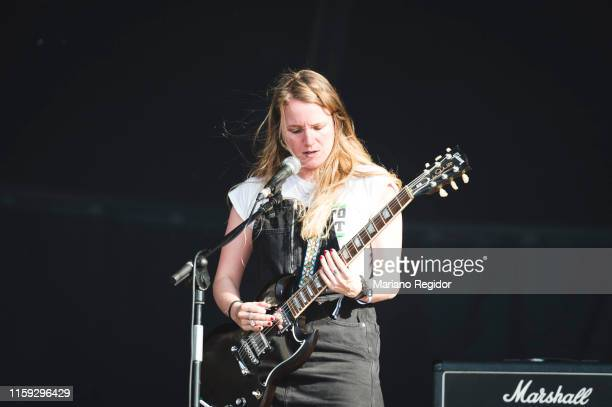Anxela Baltar of Bala performs on stage during day 3 of Download festival 2019 at La Caja Magica on June 30 2019 in Madrid Spain