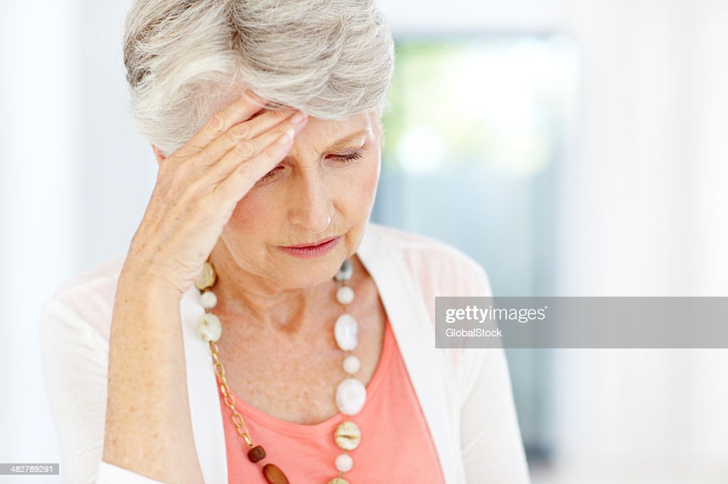 Anxiety over her financial security - Retirement/Money problems : Stock Photo