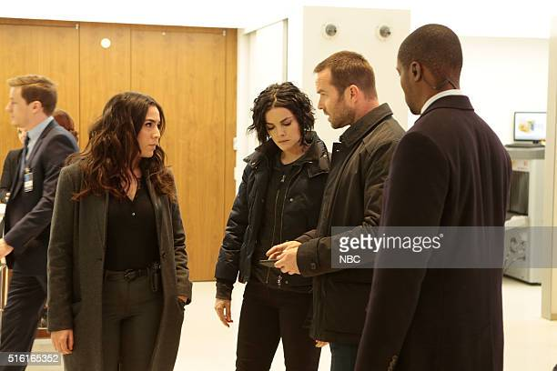 BLINDSPOT Any Wounded Thief Episode 116 Pictured Audrey Esparza as Tasha Zapata Jaimie Alexander as Jane Doe Sullivan Stapleton as Kurt Weller