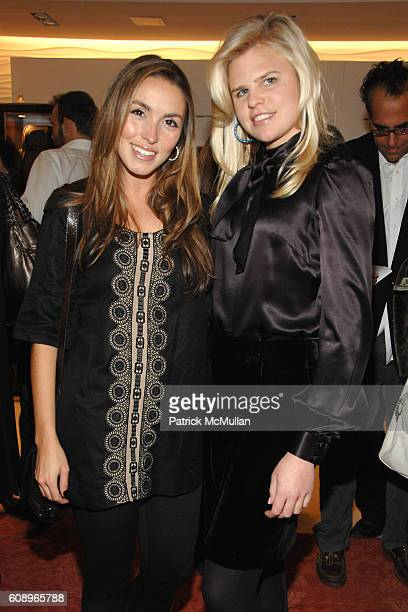 Anya Assante and Caroline Rowley attend TUMI and VANITY FAIR cocktail party for DAVID CHU benefiting THE NEW YORK BOTANICAL GARDEN at TUMI on Madison...