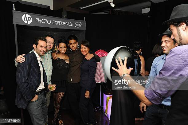 Anya AyoungChee and family attend HP Project Runway Designer Reunion at Empire Hotel on September 10 2011 in New York City