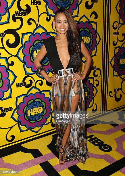 Anya AyoungChee arrives at HBO's Official After Party at The Plaza at the Pacific Design Center on September 23 2012 in Los Angeles California