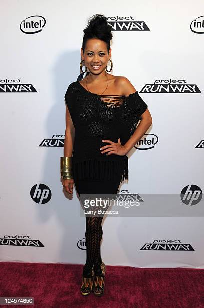 Anya AyoungChee attends HP Project Runway Designer Reunion at Empire Hotel on September 10 2011 in New York City