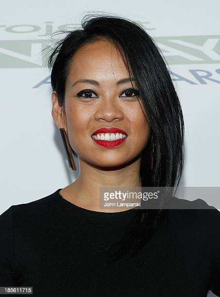 Anya AyoungChee attends the'Project Runway AllStars' season 3 viewing party at Hudson Hotel on October 22 2013 in New York City