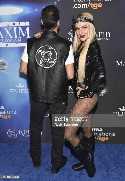 Anya Benton arrives at the 2017 MAXIM Halloween Party at LA Center Studios on October 21, 2017 in Los Angeles, California.