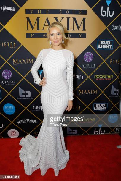 Anya Benton attends the 2018 MAXIM party produced By Karma International on February 3 2018 in Minneapolis Minnesota
