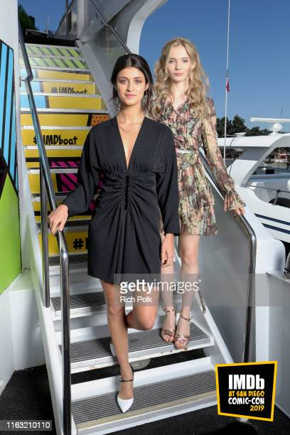 Anya Chalotra and Freya Allan attend the #IMDboat at San Diego ComicCon 2019 Day Three at the IMDb Yacht on July 20 2019 in San Diego California