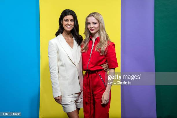 Anya Chalotra and Freya Allan of 'The Witcher' are photographed for Los Angeles Times at ComicCon International on July 19 2019 in San Diego...