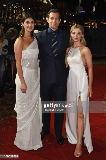 Anya Chalotra Henry Cavill and Freya Allan attend the World Premiere of Netflix's The Witcher at Vue West End on December 16 2019 in London England