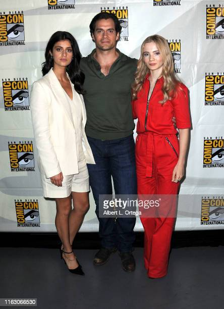 Anya Chalotra Henry Cavill and Freya Allan speak at The Witcher A Netflix Original Series Panel during 2019 ComicCon International at San Diego...