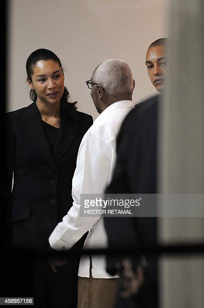 Anya Duvalier and Nicholas Duvalier attend a ceremony in the memory of their father former Haitian dictator Jean Claude Duvalier in Port au Prince on...