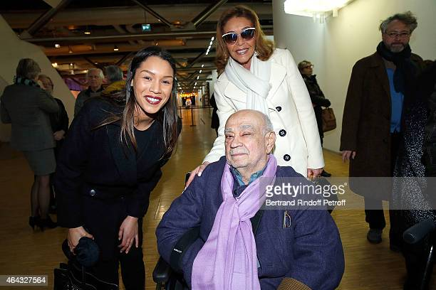 Anya Duvalier Michele Bennett and Herve Telemaque attend the 'Herve Telemaque' Retrospective Exhibition Opening at Centre Pompidou on February 24...