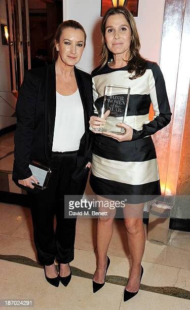 Anya Hindmarch and Aerin Lauder winner of the Businesswoman of the Year Award attend the Harper's Bazaar Women of the Year awards at Claridge's Hotel...
