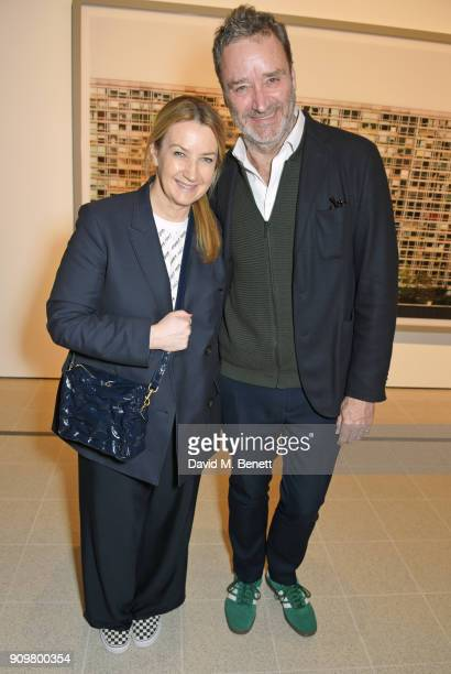 Anya Hindmarch and James Seymour attend the reopening of The Hayward Gallery featuring the first major UK retrospective of the work of German...