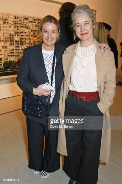 Anya Hindmarch and Justine Simons attend the reopening of The Hayward Gallery featuring the first major UK retrospective of the work of German...