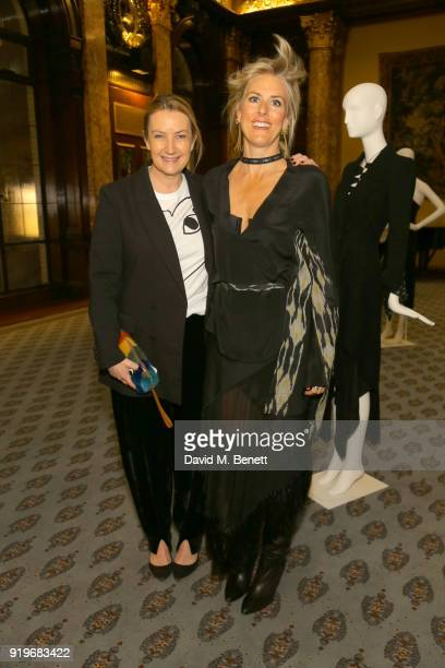 Anya Hindmarch and Kit WIllow attend the Opening evening for the Australian Fashion Council's inaugural showroom in London celebrating KitX and...