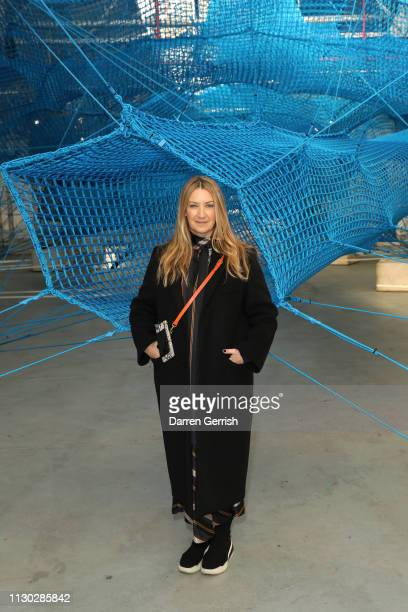 Anya Hindmarch attends the Anya Hindmarch Presentation show during London Fashion Week February 2019 on February 17 2019 in London England