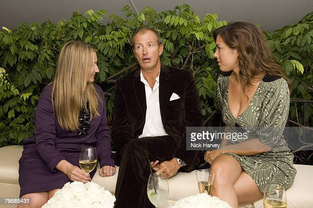 Anya Hindmarch Jessica de Rothschild and guest attend the Diane Von Furstenberg Party hosted by Arpad Busson on September 16 2007 in Chelsea London