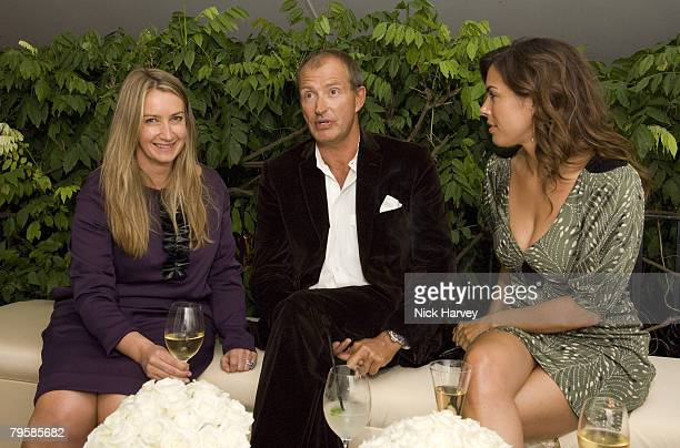 LONDON SEPTMBER 16 Anya Hindmarch Jessica de Rothschild and guest attend the Diane Von Furstenberg Party hosted by Arpad Busson on September 16 2007...