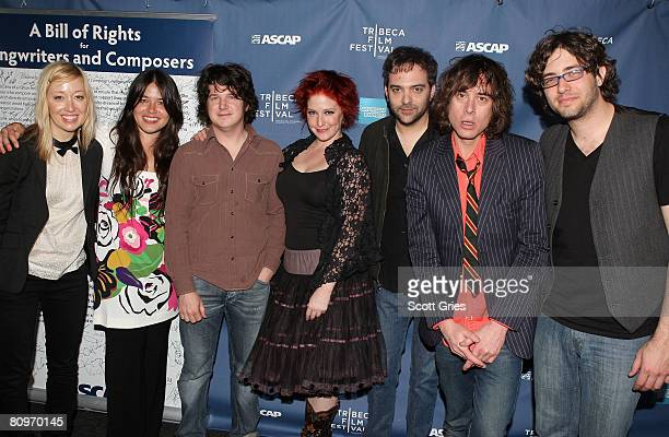 Anya Marina Rachael Yamagata Matt Slocum and Leigh Nash of Sixpence None the Richer and Adam Schlesinger and Jody Porter of Fountains of Wayne pose...