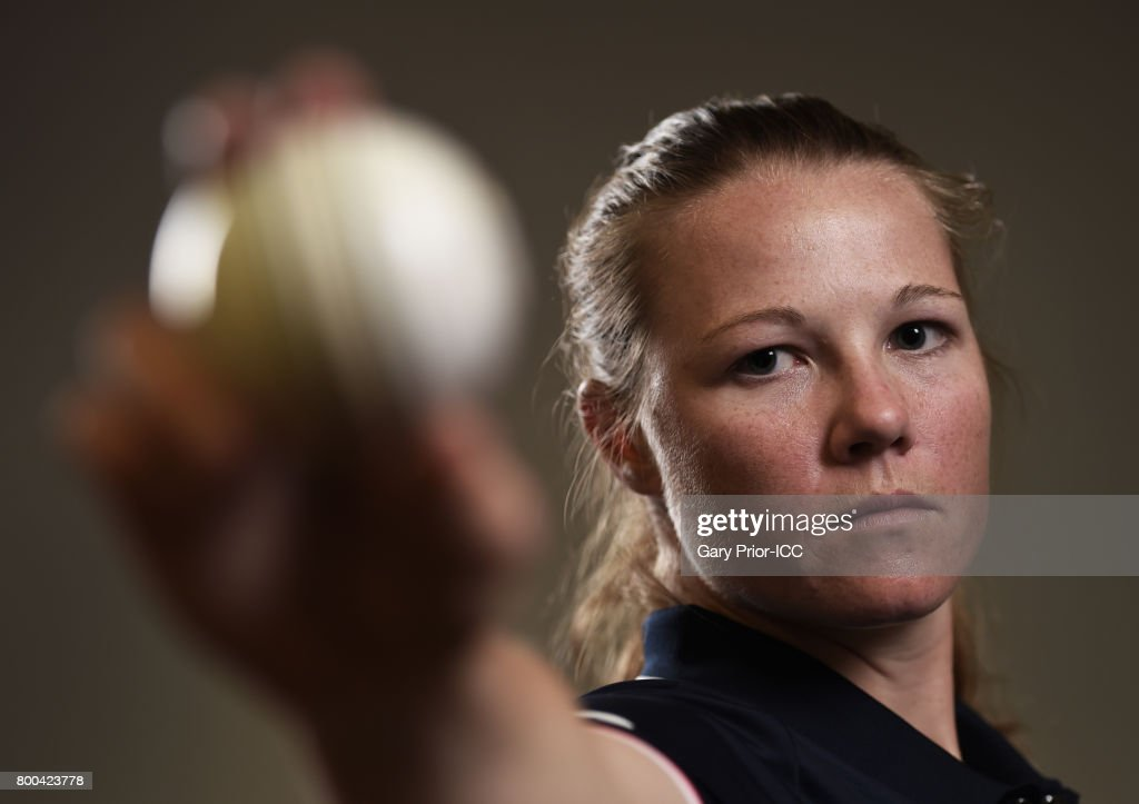 Anya Shrubsole of England on June 18, 2017 in Leicester, England.
