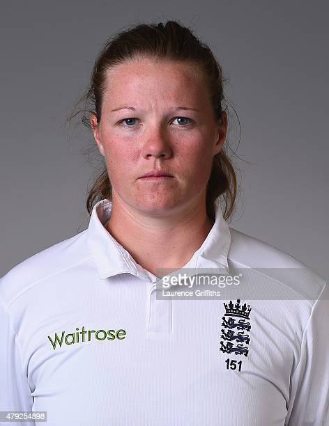 Anya Shrubsole of England poses for a portrait at the National Cricket Performance Centre on July 1 2015 in Loughborough England