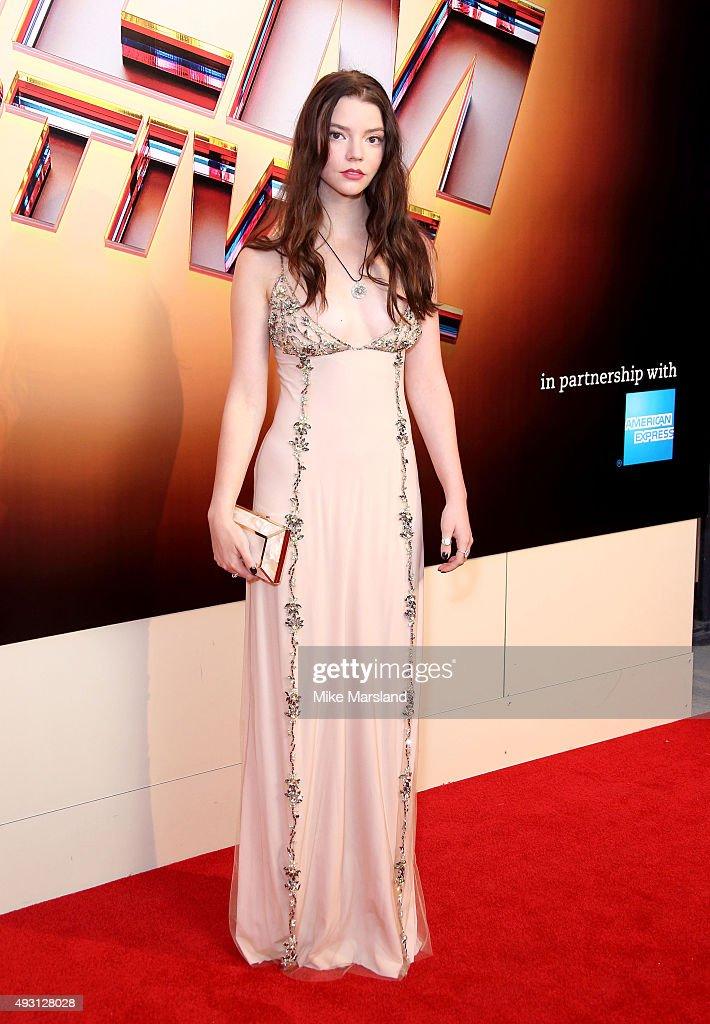 Anya Taylor Joy attends the BFI London Film Festival ...