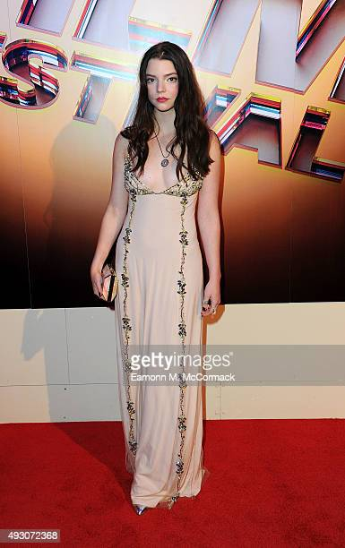 Anya TaylorJoy arrives at Banqueting House for the BFI London Film Festival Awards on October 17 2015 in London England