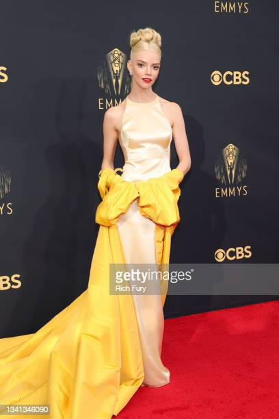 Anya Taylor-Joy attends the 73rd Primetime Emmy Awards at L.A. LIVE on September 19, 2021 in Los Angeles, California.