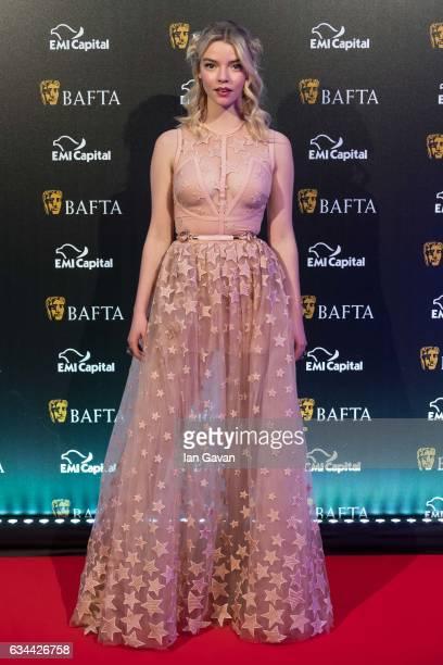 Anya TaylorJoy attends the BAFTA 2017 film gala dinner on February 9 2017 in London United Kingdom