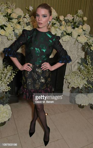Anya Taylor-Joy attends the British Vogue and Tiffany & Co. Celebrate Fashion and Film Party at Annabel's on February 10, 2019 in London, England.