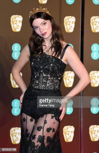 Anya TaylorJoy attends the EE British Academy Film Awards held at the Royal Albert Hall on February 18 2018 in London England