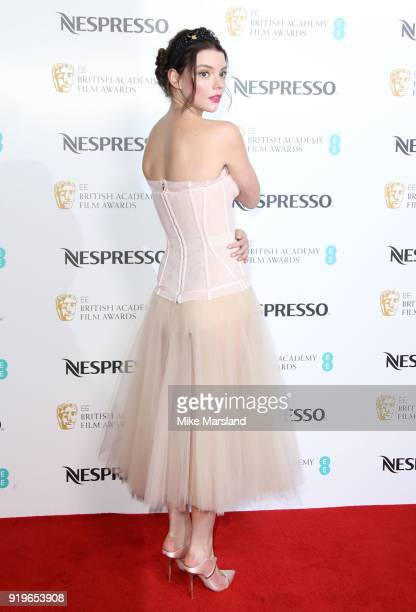 Anya TaylorJoy attends the EE British Academy Film Awards nominees party at Kensington Palace on February 17 2018 in London England