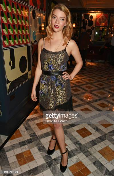 Anya TaylorJoy attends the InStyle EE Rising Star Party ahead of the EE BAFTA Awards at The Ivy Soho Brasserie on February 1 2017 in London England