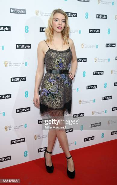 Anya TaylorJoy attends the InStyle EE Rising Star Party at the Ivy Soho Brasserie on February 1 2017 in London England