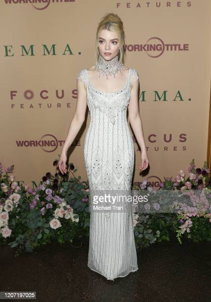 Anya TaylorJoy attends the Los Angeles premiere of Focus Features' Emma held at DGA Theater on February 18 2020 in Los Angeles California