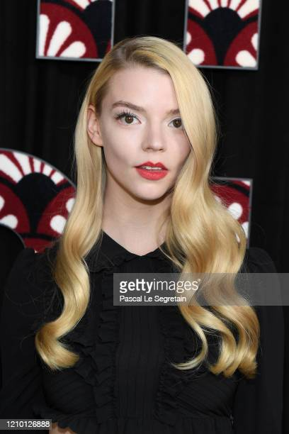 Anya Taylor-Joy attends the Miu Miu show as part of the Paris Fashion Week Womenswear Fall/Winter 2020/2021 on March 03, 2020 in Paris, France.
