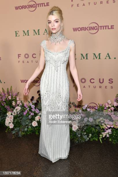"""Anya Taylor-Joy attends the premiere of Focus Features' """"Emma."""" at DGA Theater on February 18, 2020 in Los Angeles, California."""