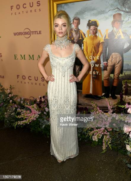 Anya TaylorJoy attends the premiere of Focus Features' Emma at DGA Theater on February 18 2020 in Los Angeles California
