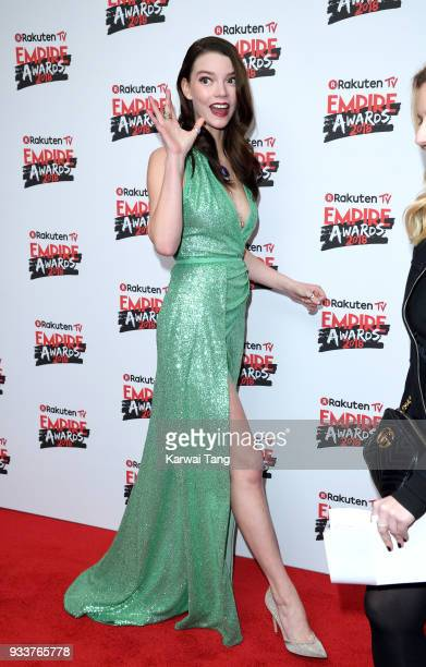 Anya TaylorJoy attends the Rakuten TV EMPIRE Awards 2018 at The Roundhouse on March 18 2018 in London England