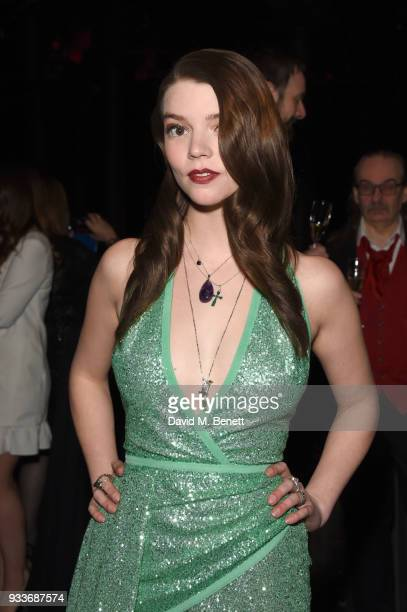 Anya TaylorJoy attends the Rakuten TV EMPIRE Awards 2018 cocktail reception at The Roundhouse on March 18 2018 in London England