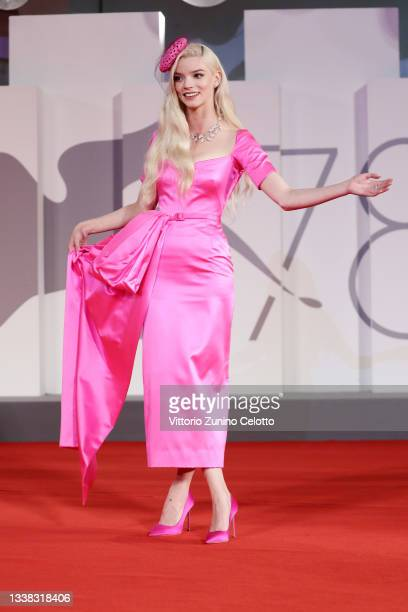 """Anya Taylor-Joy attends the red carpet of the movie """"Last Night In Soho"""" during the 78th Venice International Film Festival on September 04, 2021 in..."""