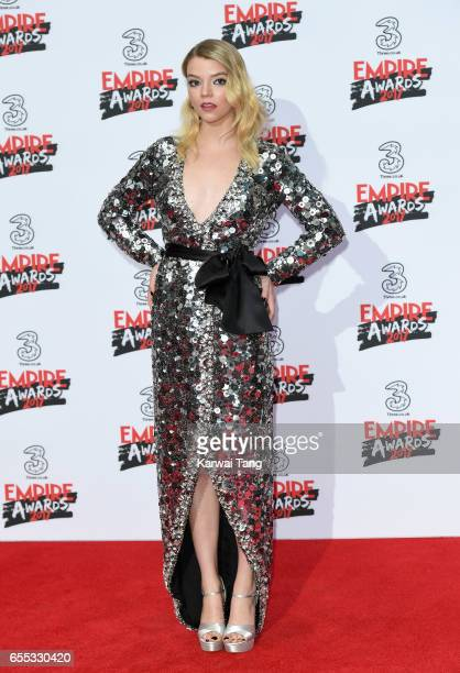 Anya TaylorJoy attends the THREE Empire awards at The Roundhouse on March 19 2017 in London England