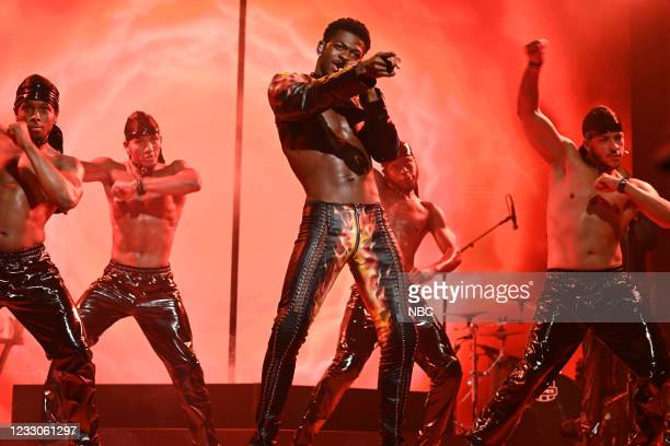 """Anya Taylor-Joy"""" Episode 1805 -- Pictured: Musical guest Lil Nas X performs """"Montero """" on Saturday, May 22, 2021 --"""