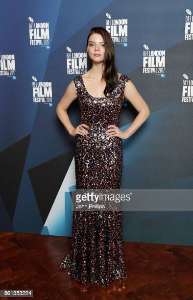Anya TaylorJoy poses in the winners room at the 61st BFI London Film Festival Awards on October 14 2017 in London England