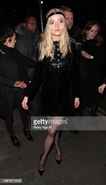 Anya TaylorJoy seen attending Glass European film afterparty on January 09 2019 in London England