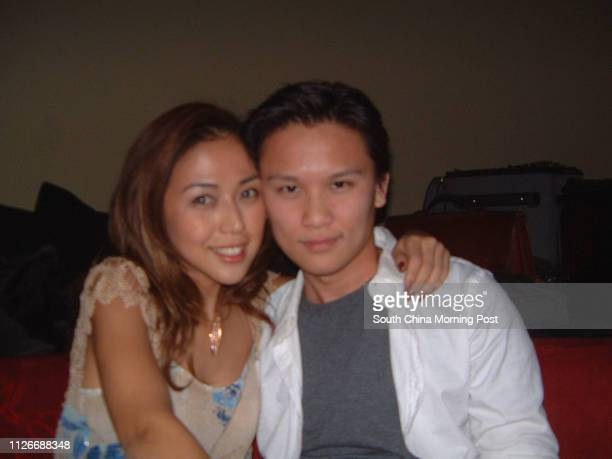Anya Wu and theatre director Duc Luu celebrate after their play Glengarry Glen Ross 07 March 2003