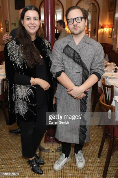 Anya Yiapanis and Alexander Fury attend a dinner in Paris to celebrate Another Magazine A/W17 hosted by Vivienne Westwood Andreas Kronthaler...