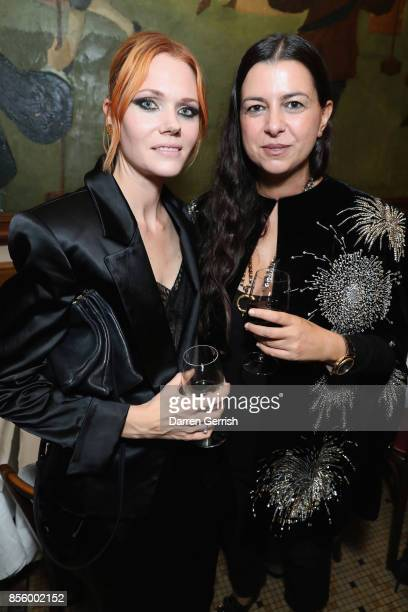 Anya Yiapanis and Katie Shillingord attend a dinner in Paris to celebrate Another Magazine A/W17 hosted by Vivienne Westwood, Andreas Kronthaler,...